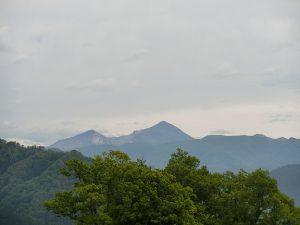 喜多方三ノ倉高原から見た裏磐梯