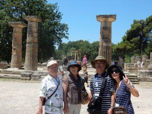 ギリシャ・オリンピアの遺跡