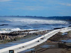 台風一過の四倉海岸