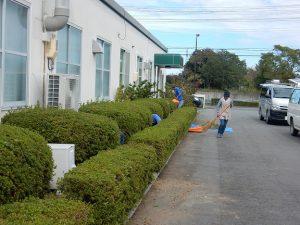 広野工場の清掃