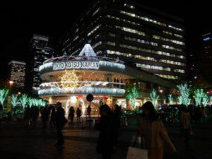 有楽町前の交通会館の夜景