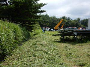 広野工場の草刈り中