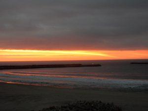 四倉海岸の久しぶりの朝焼け