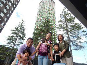 星野リゾートトマムの記念撮影