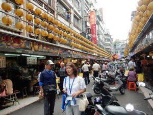 台湾基隆の街の中