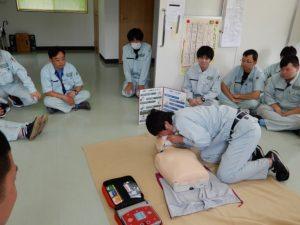AEDの使用訓練