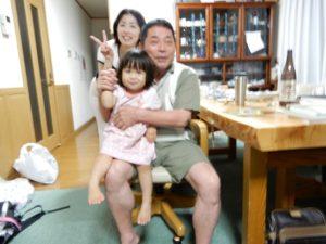 孫娘により写された孫娘と娘のショット