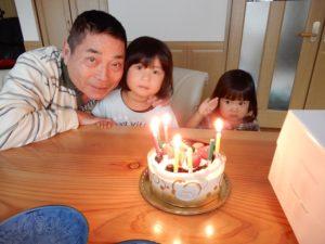 孫娘に誕生日を祝ってもらう