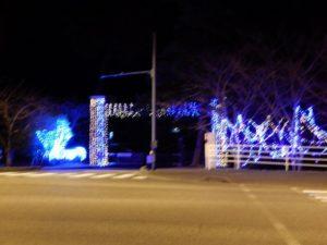 広野町の二つ沼公園の電飾