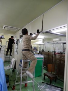 印刷室のクリーンルーム工事