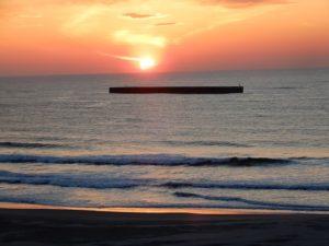 四倉海岸の夜明け
