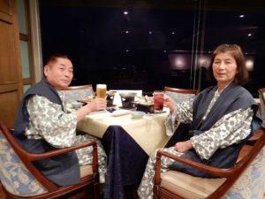 ホテル大観荘の夕食