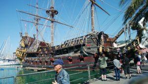 ジェノバの記念碑としての帆船