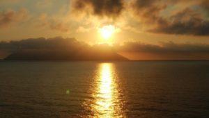 地中海の日の入り