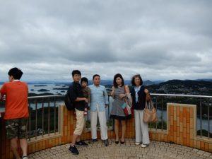 九重九島を見下ろす展望台