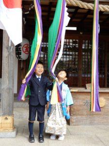 次男坊の晴れ姿琴平神社