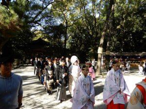 熱田神宮での婚礼
