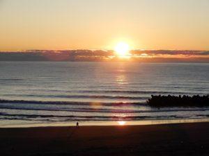 四倉海岸の日の出