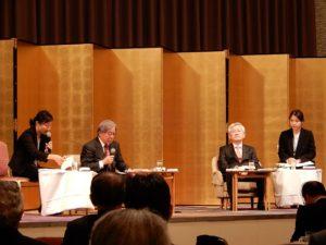 駐日韓国大使と小此木教授と通訳
