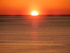 四倉海岸冬の日の出