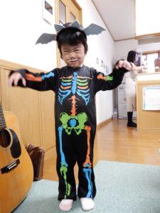 孫のハロウィン仮装