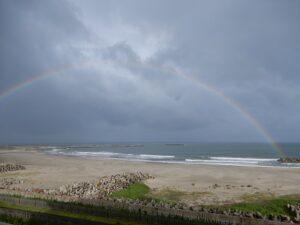 虹が見えました四倉海岸